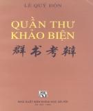 Ebook Quần thư khảo biện: Phần 2 - Lê Quý Đôn