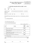 Mẫu số: 08/MGT-TNCN - Văn bản đề nghị giảm thuế thu nhập cá nhân