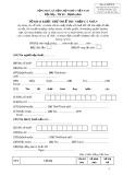 Mẫu số: 06/TNCN - Tờ khai khấu trừ thuế thu nhập cá nhân