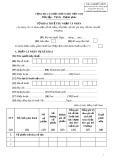 Mẫu số: 04/ĐTV-TNCN - Tờ khai thuế thu nhập cá nhân