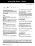 Induced Abortion Guidelines