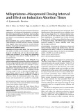 Mifepristone-Misoprostol Dosing Interval and Effect on Induction Abortion Times