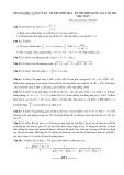Tổng hợp lời giải đề thi thử THPT Quốc gia môn Toán