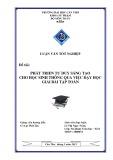 Luận văn tốt nghiệp: Phát triển tư duy sáng tạo cho học sinh thông qua việc dạy học giải bài tập toán