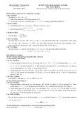 Đề thi tuyển sinh đại học năm 2009 môn Toán, khối B (Đề chính thức) - Bộ GD&ĐT