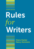 Ebook Rules for Writers (7th edition) - Diana Hacker, Nancy Sommers