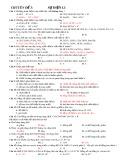 Đáp án chuyên đề ôn thi Đại học: Chuyên đề 3 - Sự điện li