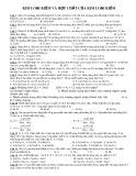 Đáp án bài tập Kim loại kiềm và hợp chất của kim loại kiềm