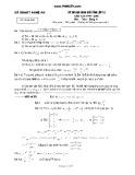 Đề thi học sinh giỏi Tỉnh lớp 12 năm học 1999 - 2000 môn Toán bảng A - Sở GD - ĐT Nghệ An