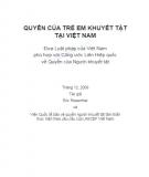 Báo cáo Quyền của trẻ em khuyết tật tại Việt Nam - Eric Rosenthal