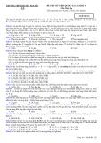 Đề thi thử THPT quốc gia lần thứ 3 môn Hóa học - THPT chuyên Nguyễn Huệ