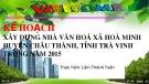 Đề án: Kế hoạch xây dựng nhà văn hoá xã Hoà Minh, huyện Châu Thành, tỉnh Trà Vinh trong năm 2015