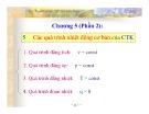 Bài giảng Kỹ thuật nhiệt - Chương 5.2: Các quá trình nhiệt động cơ bản của chất thuần khiết - TS. Hà Anh Tùng (ĐH Bách khoa TP.HCM)