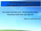 Bài giảng Phương pháp phân tích phổ nguyên tử - AAS và AES - Nguyễn Thị Hoa Mai