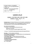 Lesson plan Unit 8: Country life and city life - Lesson 4: Read (page 75 ~ 79)