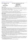 Đề thi học sinh giỏi thành phố lớp 9 năm học 2014-2015 môn Hóa học - Sở GD&ĐT Hà Nội