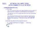 Bài giảng Microsoft Word 2003 - Bài 08: Sử dụng các chức năng Auto correct và Auto text