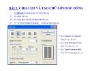 Bài giảng Microsoft Word 2003 - Bài 03: Chia cột và tạo chữ lớn đầu dòng