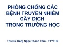 Bài giảng Phòng chống các bệnh truyền nhiễm gây dịch trong trường học - ThS.BS. Đặng Ngọc Thanh Thảo