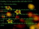 Bài giảng Thức ăn vật nuôi: Chương 5 - Các nguyên liệu chế biến TAVN
