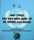 Ebook Giới thiệu các văn kiện quốc tế về quyền con người: Phần 1 – NXB Lao Động Xã hội