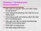 Bài giảng môn học Kinh tế lượng - Chương 4: Tự tương quan (Autocorrelation)