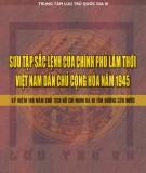 Kỷ niệm 100 năm chủ tịch Hồ Chí Minh ra đi tìm đường cứu nước - Sắc lệnh của Chính phủ lâm thời Việt Nam dân chủ cộng hòa năm 1975: Phần 1