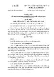 Nghị quyết số: 91/2015/QH13