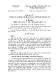 Nghị quyết số: 97/2015/QH13