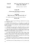 Nghị quyết số: 81/2014/QH13