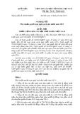 Nghị quyết số: 90/2015/QH13