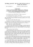 Quyết định số: 33/2015/QĐ-TTg