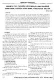 Nghiên cứu nguồn lợi chim ở lâm trường Ninh Sơn, huyện Ninh Sơn, tỉnh Ninh Thuận