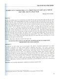 Nghiên cứu ảnh hưởng của nhiệt độ sấy đến quá trình hấp thụ ẩm của hạt ngô