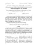 Tối ưu hóa các yếu tố ảnh hưởng đến quá trình sản xuất sirô sim (Rhodomyrtus tomentosa) để có hàm lượng anthocyanin cao