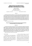 Nghiên cứu sản xuất sản phẩm bột uống liền dịch trích ly lá dâu tằm (Morus albaL.) Việt Nam