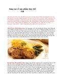 Sáng tạo về sản phẩm thay thế thịt