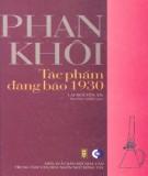 Tác phẩm đăng báo 1930 - Phan Khôi: Phần 1