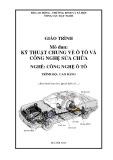 Giáo trình mô đun Kỹ thuật chung về ô tô và công nghệ sửa chữa - Nghề: Công nghệ ô tô (Hoàng Văn Thông)