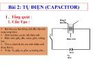 Bài giảng Điện tử căn bản - Bài 2: Tụ điện