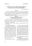 Vận dụng các cấu trúc dạy học hợp tác vào giảng dạy hóa học phổ thông