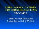 Bài giảng Những nguyên lý cơ bản của chủ nghĩa Mác - Lênin: Chương 4 - TS. Nguyễn Minh Tuấn