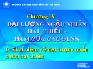 Bài giảng Lý thuyết xác suất và thống kê toán: Chương 4 - ĐH Kinh tế TP.HCM