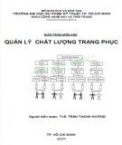 Giáo trình môn học Quản lý chất lượng trang phục: Phần 1 - ThS. Trần Thanh Hương