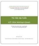 Tài liệu Tập huấn lễ tân ngoại giao - Tài liệu tham khảo phục vụ tập huấn cho cán bộ Văn phòng Chính phủ