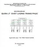 Giáo trình môn học Quản lý chất lượng trang phục: Phần 2 - ThS. Trần Thanh Hương