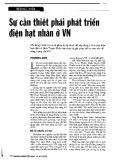 Sự cần thiết phải phát triển điện hạt nhân ở Việt Nam