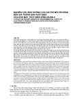 Nghiên cứu ảnh hưởng của chi phí môi trường đến giá thành sản xuất điện của nhà máy thủy điện Sông Bung 4