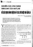 Nghiên cứu ứng dụng simulink của matlab để xác định dòng điện rò ở các lưới điện mỏ hầm lò
