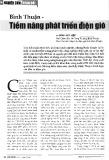 Bình Thuận - Tiềm năng phát triển điện gió